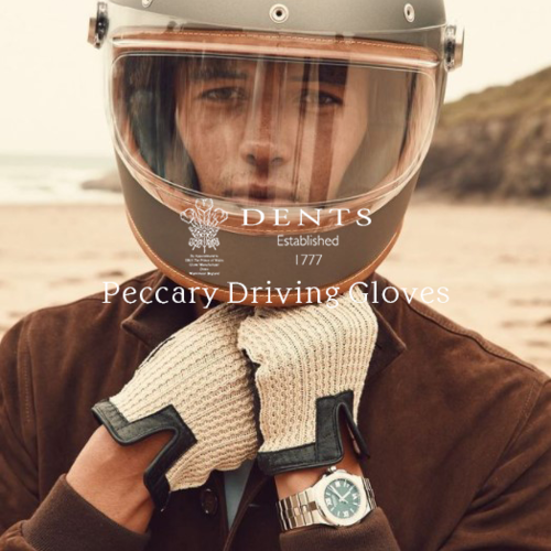 ペッカリー革のドライビンググローブ